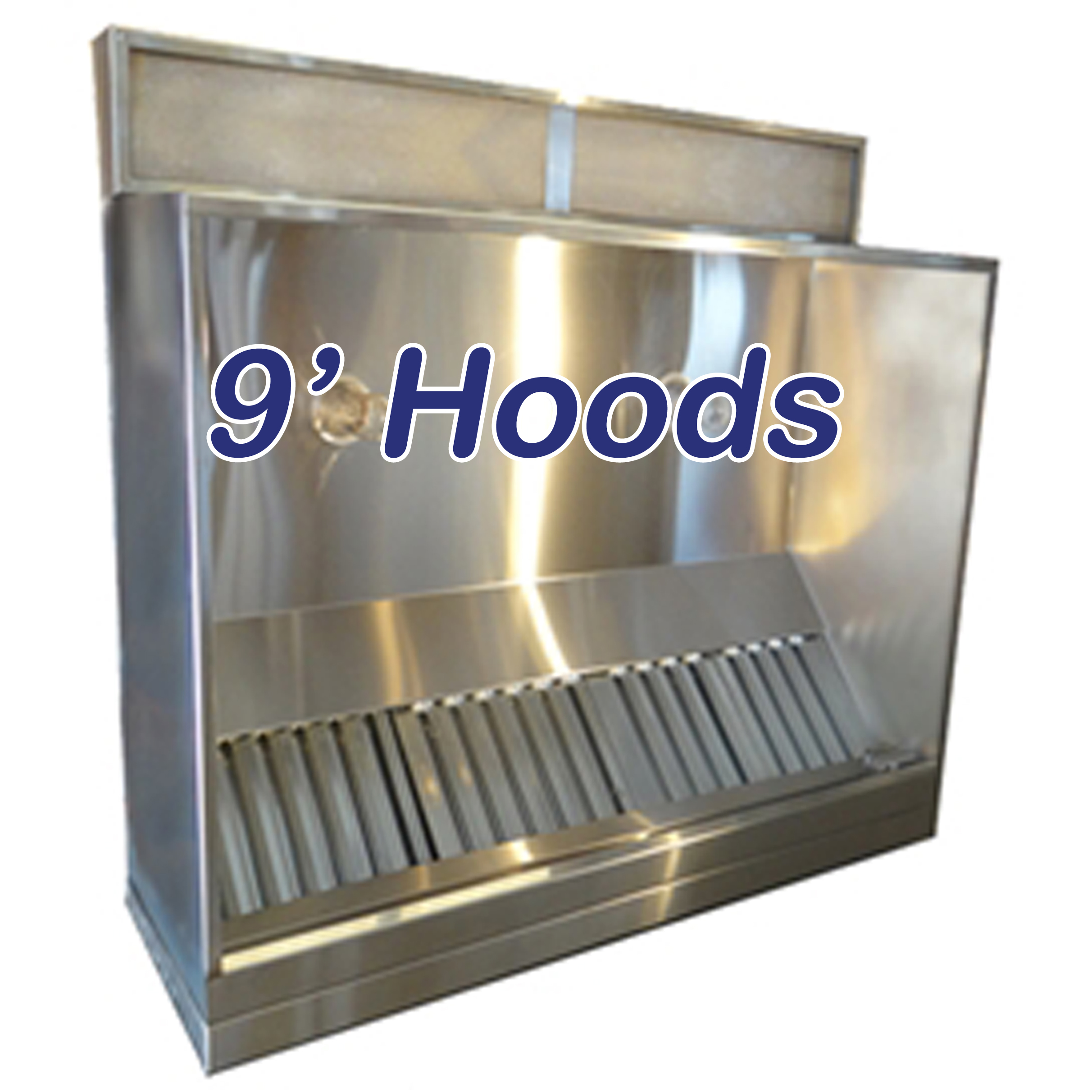 9' vent hoods | vent hoods canopy, shallow front and