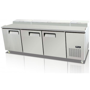 Migali C Pp93 Hc Refrigerated Pizza Prep Table Three Solid