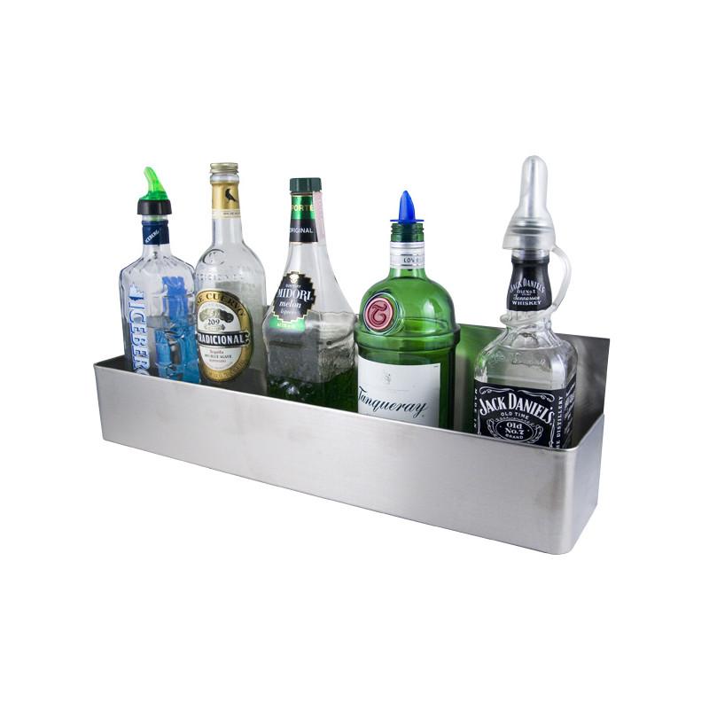 """22/'/' 32/"""" 42/'/' Stainless Steel Double Tier Restaurant Bar Bottle Speed Rail New"""