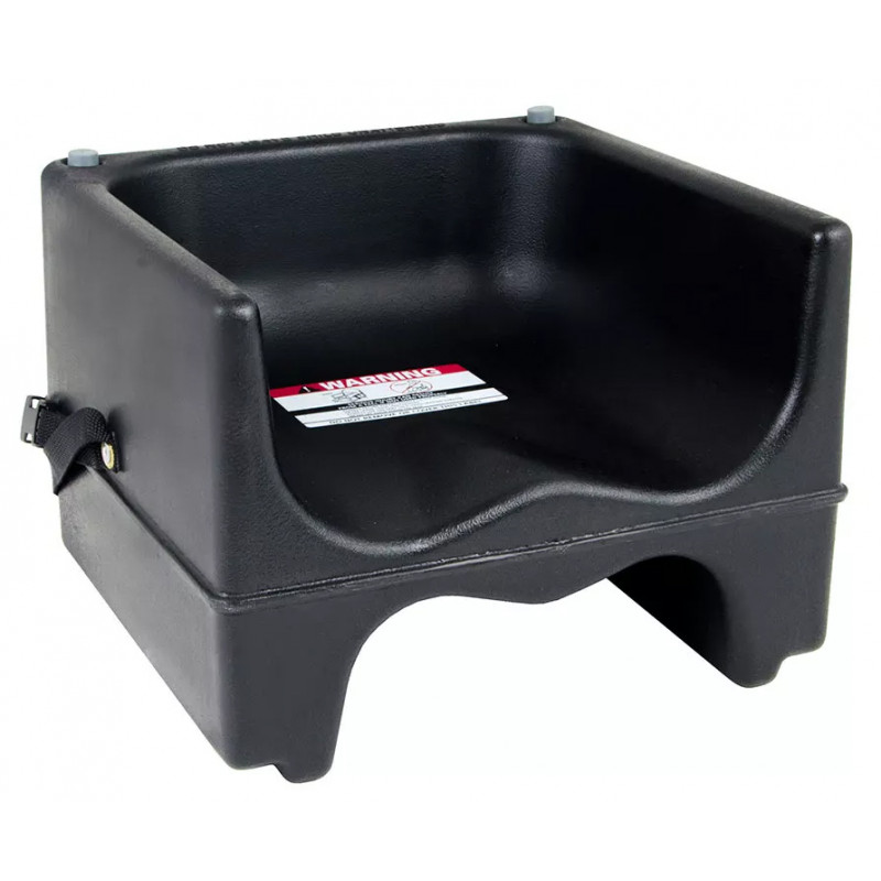 Cambro 200bcs110 Plastic Dual Height Booster Seat With Strap Black