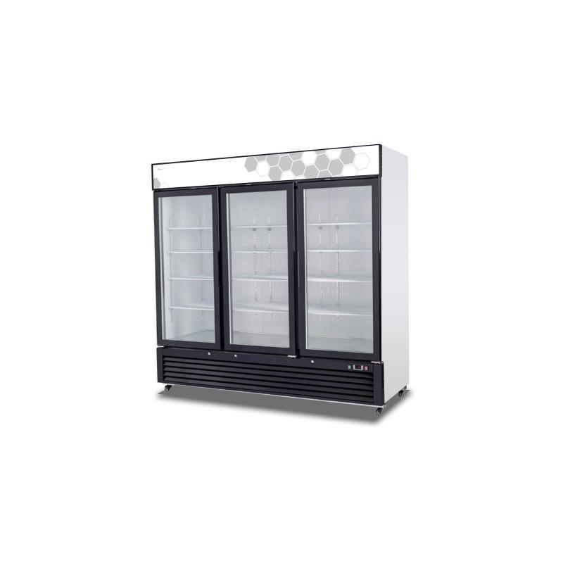 Migali C 72fm Merchandiser Freezer W Three Glass Swing