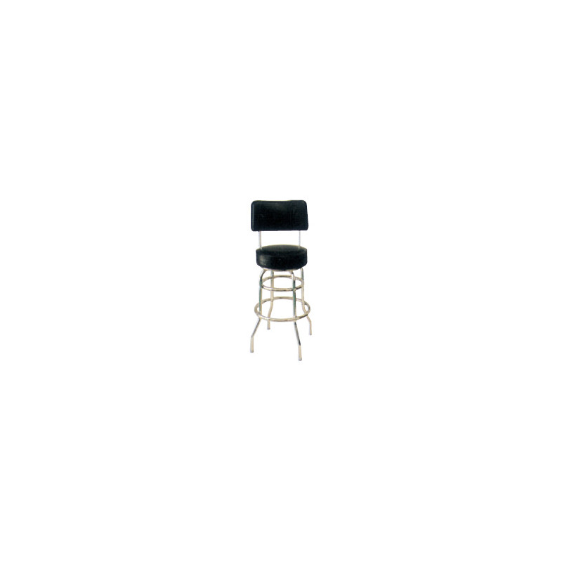 Drbback Swivel Seat Bar Stool W Back 29h Black Vinyl Jeans