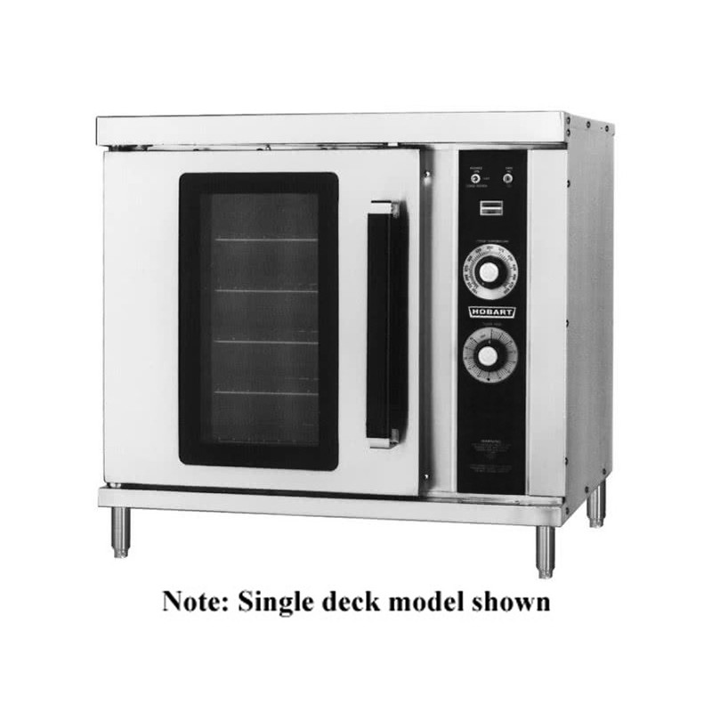 Hobart HEC20 208V Single Deck Half Size Electric Convection Oven 40 208v