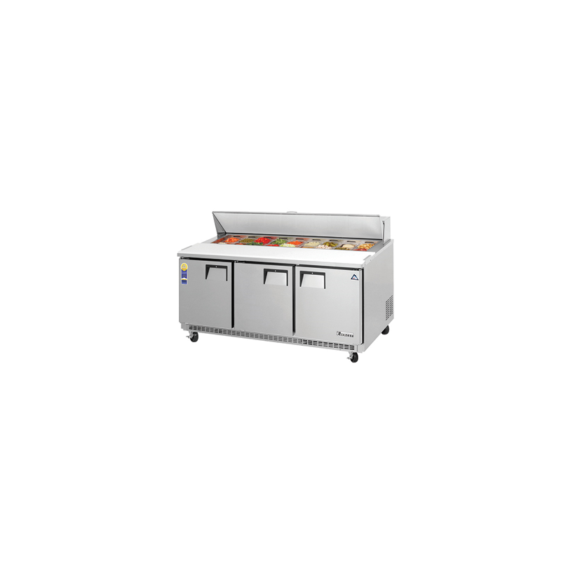 Brilliant Everest Epbnr3 Refrigerated Sandwich Salad Prep Table With Three Doors 71 115V Home Remodeling Inspirations Genioncuboardxyz