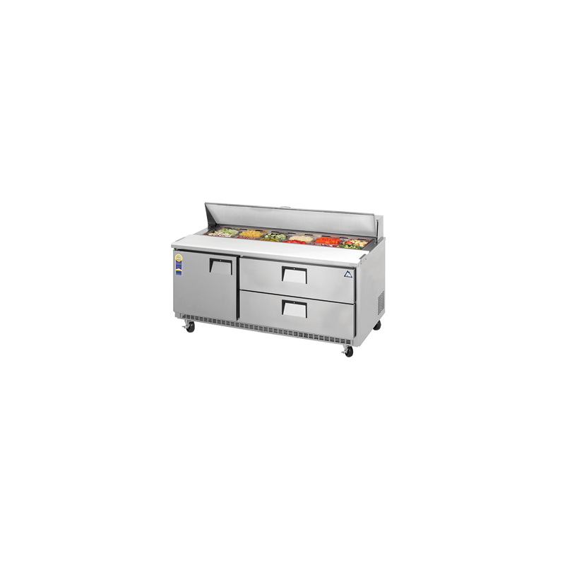 Surprising Everest Epbnr3 D2 Refrigerated Sandwich Salad Prep Table With One Door And Two Drawers 71 115V Download Free Architecture Designs Lukepmadebymaigaardcom