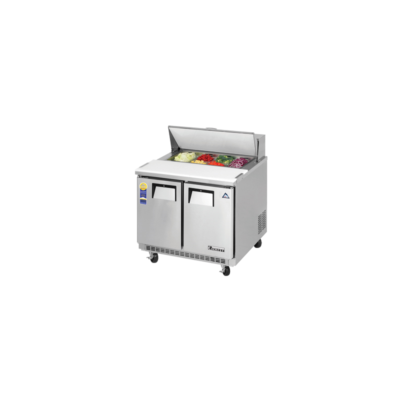 Awesome Everest Epbnsr2 Back Mount Sandwich Prep Table 36 2 Door Refrigerated Counter Download Free Architecture Designs Lukepmadebymaigaardcom