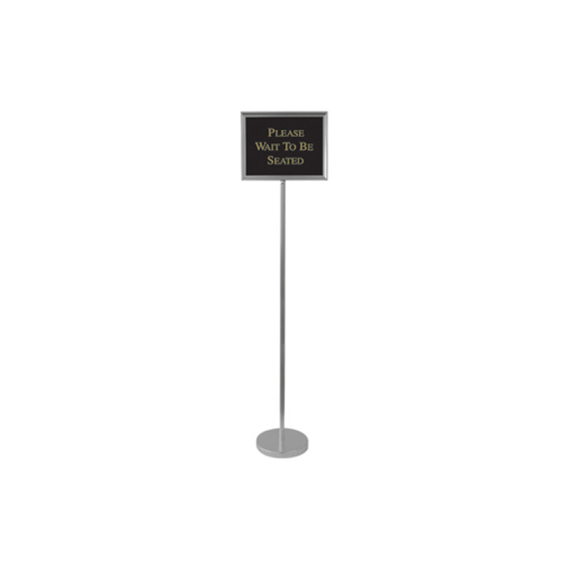 Aarco Ti 1ch Director Sign Stand Aluminum Changeable Hostess