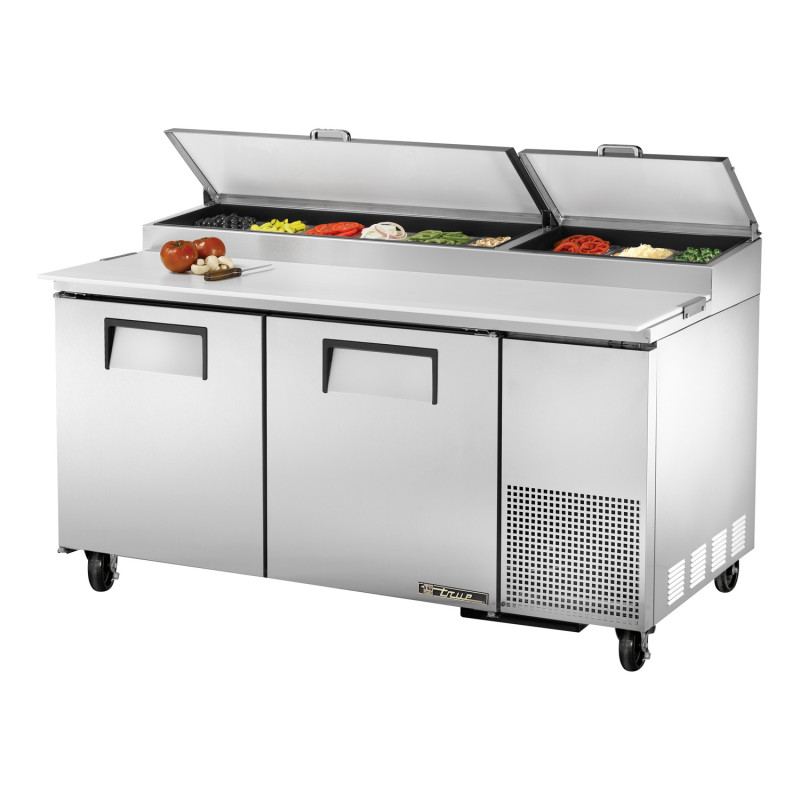 true tpp 67 two door pizza prep table w refrigerated base stainless rh jeansrestaurantsupply com pizza prep table canada pizza prep table 67