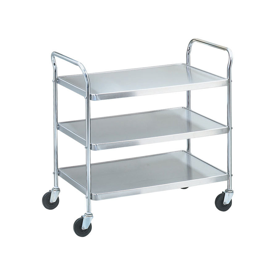 Metal Utility Cart: Vollrath 97105 Utility Cart, 3 Stainless Steel Shelves