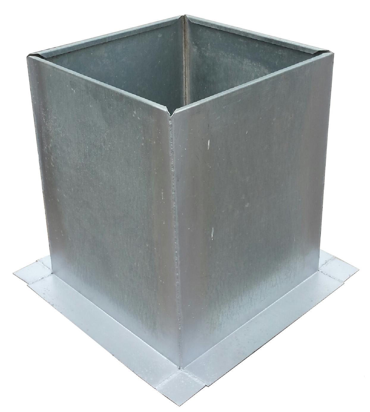 "Restaurant Kitchen Ventilation System: Roof Curb Flashing 19.5"" X 19.5"""