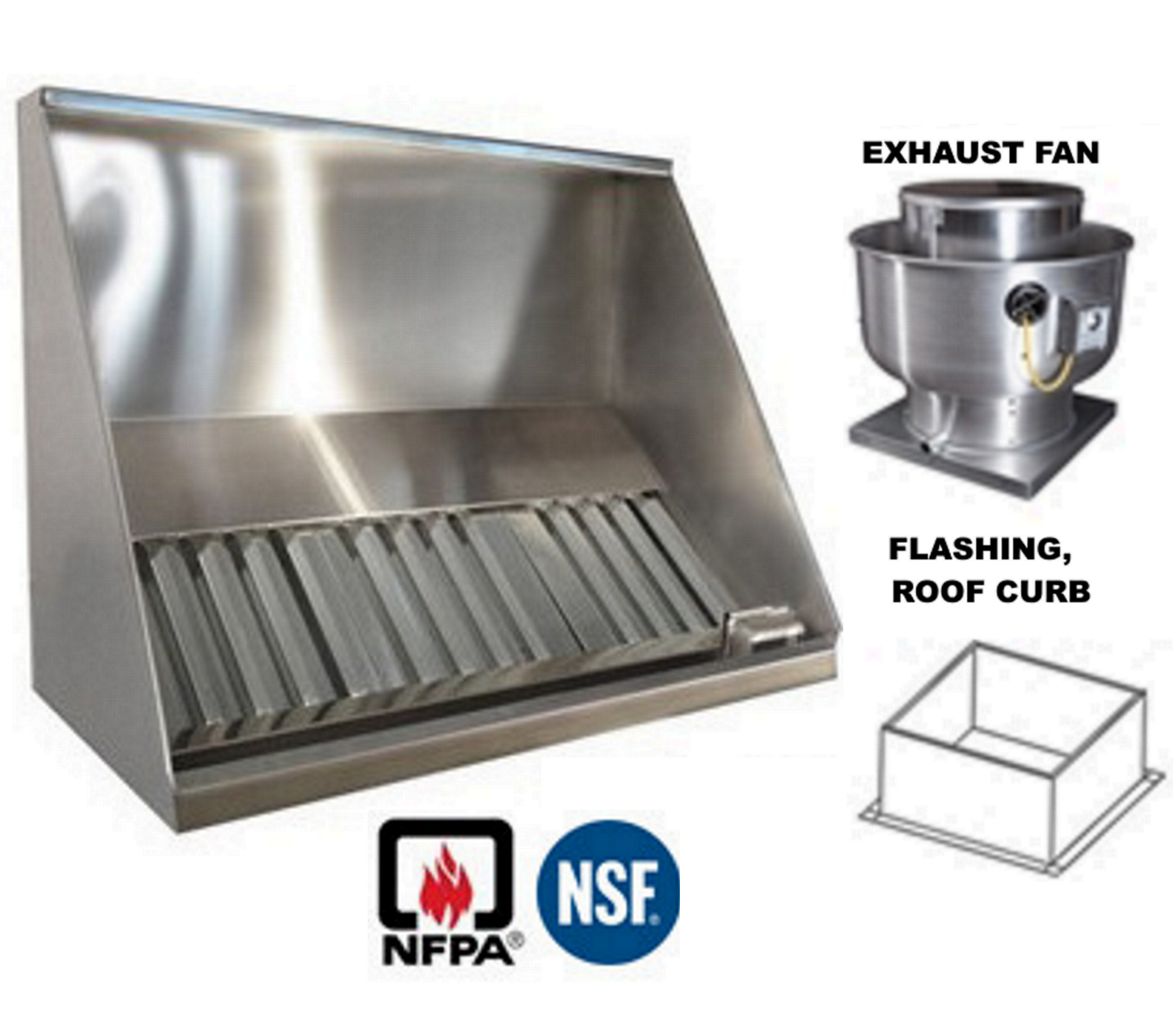 Exhaust Hoods Product ~ Jrsvhc ff concession exhaust vent hood shallow front