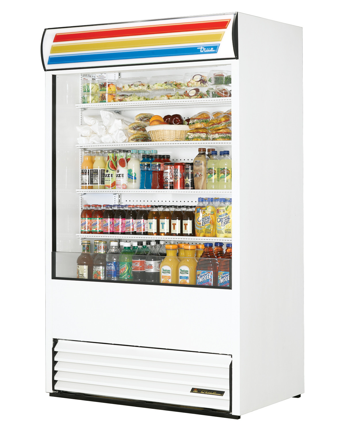 True Tac 48 Ld Vertical Air Curtain White Refrigerated