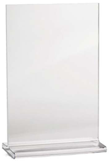 tablecraft 85110 acrylic two sided table tent menu holder 8 1 2 w x