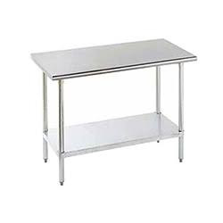 BK Resources Stainless Steel Flat Top Work Table 36 x 18 VTT-1836
