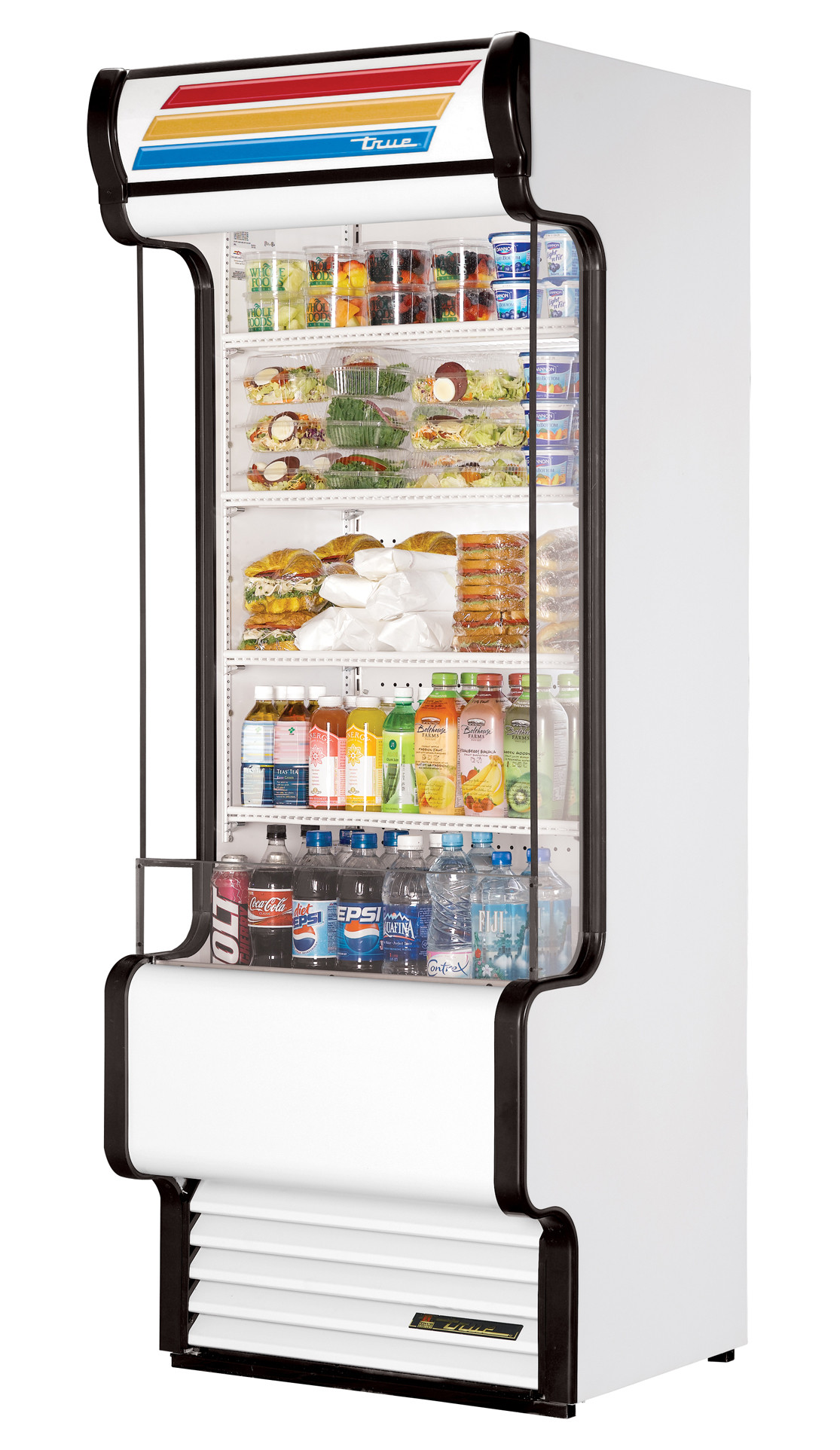 True Tac 72 Ld Vertical Air Curtain White Refrigerated
