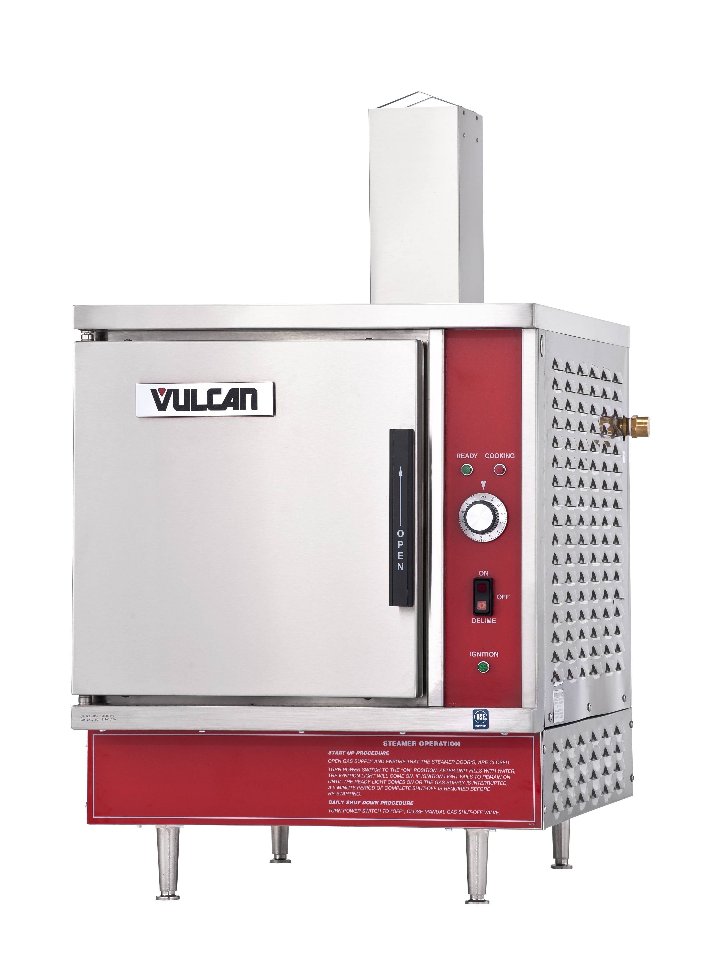Vulcan K40glt Lp Gas 2 3 Steam Jacketed Tilting Kettle 40 Gal Electric 6 24kw Open Radiant Elements 1 Gn Oven With 4 Rack Vsx5g Countertop Convection Steamer Ng 5 Pan Capacity